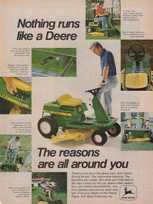 1974 John Deere Tractor: Reasons Are All Around You Vintage Print Ad