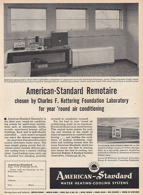 1954 American Standard: Remotaire, Charles F Kettering Vintage Print Ad