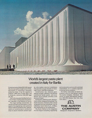 1970 Austin Company: Pasta Plant Created in Italy for Barilla Vintage Print Ad
