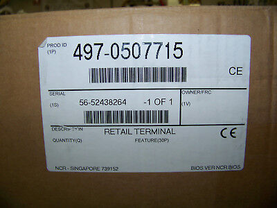 NCR Display Assembly LCD 7616 15 Feature 30P 497-0507715 Retail Terminal New