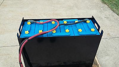 12-125-13 24volt FORKLIFT BATTERY tested, serviced, clean & ready to ship! E125