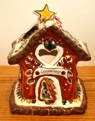 Lovely Blue Sky Clayworks Christmas Candy Cane Cottage T Light House Goldminc