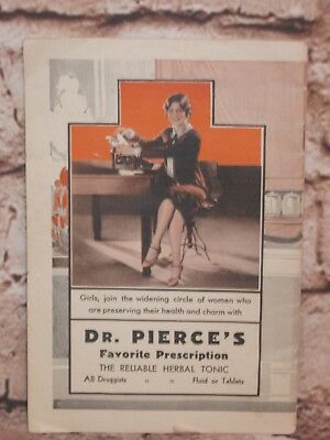 Vintage 1920s Dr. Pierce's Herbal Tonic Quack Medicine Advertising Booklet