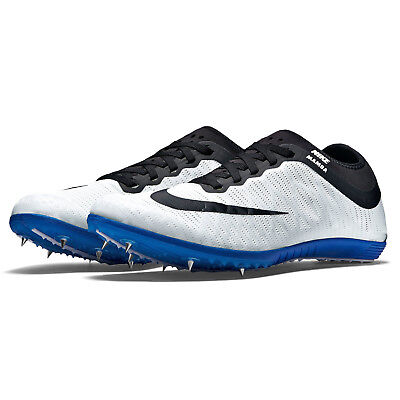 New Nike Zoom Mamba 3 Mens Track Field Spikes Distance Running Shoes White Blue