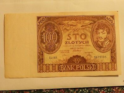 Poland 100 Zlotych banknote - 1934 - Pick 75 - circulated - JCcug