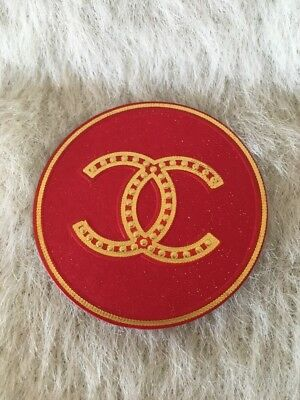 CHANEL CAMELLIA STICKER Red Gold  HOLIDAY EDITION NEW & AUTHENTIC