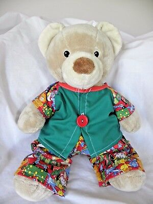 Xmas print pjs to fit Pumpkin Patch teddy bear boys 15 inch Build a bear clothes