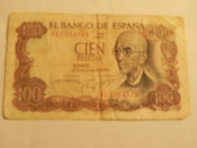 Foreign Currency - Spain, 100 Pesetas note - 1970 - Circulated, JCcug