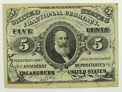5C Five Cent 3rd (Third) Issue Fractional Currency Fr. 1238 -  (120717-3)