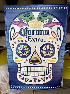 Corona Extra Candy Scull Tin Tacker Sign! 👀approx 24x18