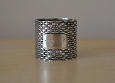 Wood & Hughes Coin Silver Basket Weave Napkin Ring