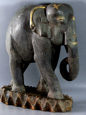 Large Size Beautiful Antique Elephant Wood Carving Cheap Don't Miss