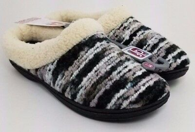 Dearfoam Multi Colored Knit Look Clog Slippers  (Choose Size) NEW
