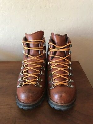 Vintage Danner Brown Leather Mountain Hiking Boots Usa Mens 7.5 W Insulated
