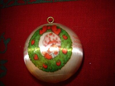 1980 Strawberry Shortcake Satin Ball Ornament Have a Delicious Ornament