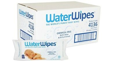 water wipes 60's - Box of 12 Packs(720 wipes)