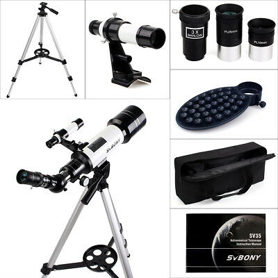 SVBONY 70mm Refractor Astronomical Telescope+Zenith Mirror+Tripod/Phone Adapter