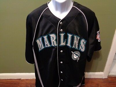 Florida Marlins MLB Jersey Mens Size LARGE Dynasty True Fan Series  Embroidered fe4471ef1