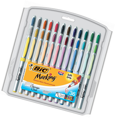 BIC Marking Permanent Marker Fashion Colors, Ultra Fine Point, Assorted Colors,