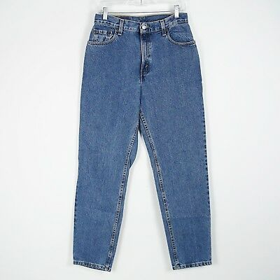 Vintage USA Made Levi's 550 Relaxed Tapered High Waist Mom Blue Jeans 10M 29x31