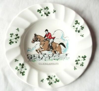 Carrigaline Pottery Co. Ireland Fox Hunter and Horse Decorative Plate 5.25""