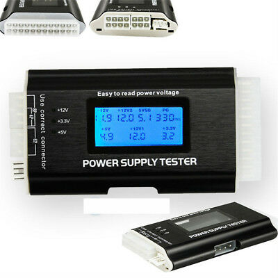 Lcd Computer Pc Power Supply Tester 20/24 Pin For Sata Ide Hdd Atx Itx Btx Hdd F