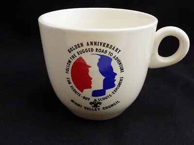Miami Valley Council Boy Scouts Cub Scout White Coffee Tea Mug Cup Pre-Owned 2D