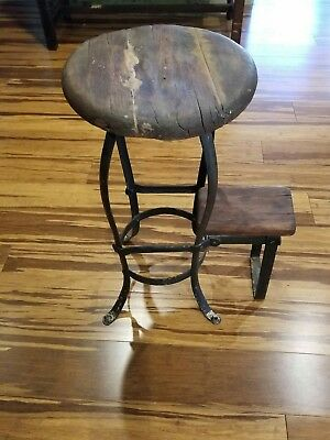antique industrial stool step stool