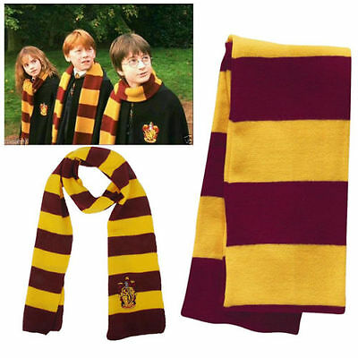 Warm Gryffindor Harry Potter Cosplay Knit Winter Costume Scarf Wrap Fans Gift