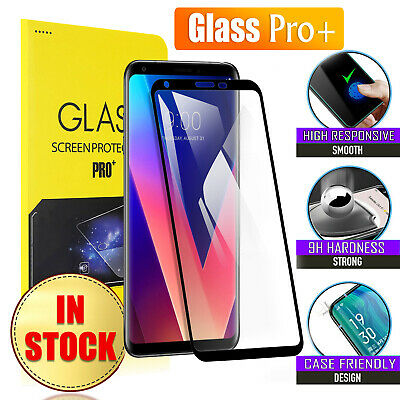 Full Screen Coverage Tempered Glass Screen Protector For LG V30+ Plus |V40 ThinQ