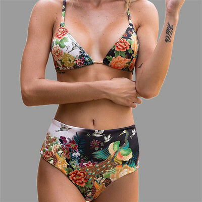 Women Push-up Padded Bra Bandage Bikini Swimsuit Triangle Swimwear Beach Suit