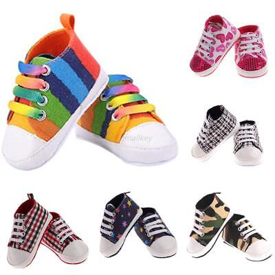 Infant Toddler Stylish Sneakers Baby Boy Girl Crib Shoes Newborn to 18 Months AU