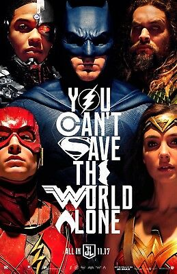 Justice League Original Movie Poster DS 27x40 Double Sided