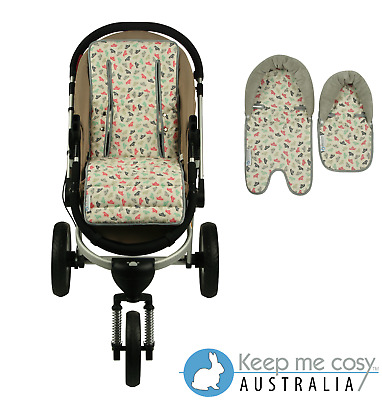 Keep Me Cosy™ Pram Liner + Head Support Set - Paper Boat