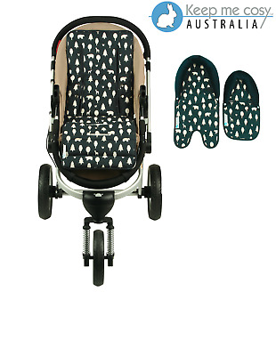 Keep Me Cosy™ Universal Pram Liner + Baby Head Support set - Woodland Friends