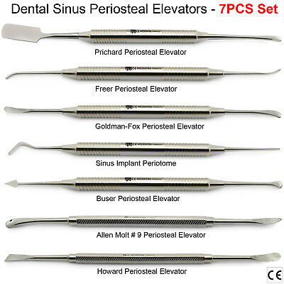 Assortment of Implant Periosteal Elevators Dental Periotomes Scalers Kit Of 7PCS