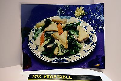 """Chinese Take Out Restaurant """"Mixed Vegetables""""  Backlit Poster Picture Food"""