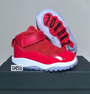 super cute 0f928 73263 NIKE AIR JORDAN Retro 11 XI Win Like 96 Toddler Infant Gym Red White Black