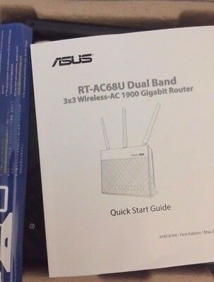 Asus RT-AC68U Dual Band Wireless AC1900 Gigabit Router - Excellent Condition
