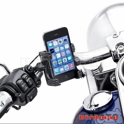 Motorcycle Cell Phone Holder Handlebar Carrier Mount For Harley Sportster Dyna
