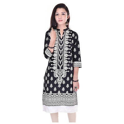 Bollywood Ethnic Designer Cotton Printed Indian Kurti Kurta For Womens 5001