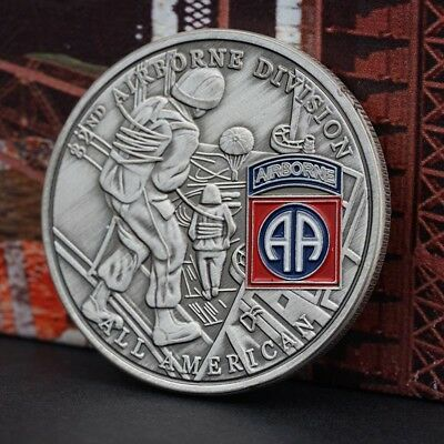 82 ND AIRBORNE DIVISION Commemorative Coin Collection Pop.