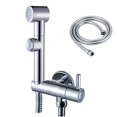 Toilet Bathroom Hand held Diaper Shower Set Shattaf Bidet Sprayer Jet Faucet
