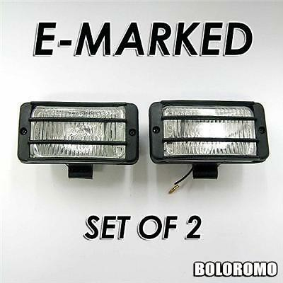 2 x Universal White Car 4x4 Offroad Grille Fog Spot Lights New