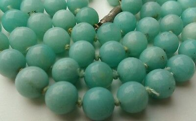 Chinese antique hand knotted jade bead necklace