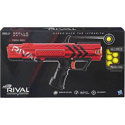 Nerf Rival Apollo XV 700 Blaster Red Toy 7 Rounds Spring High Impact Action kids