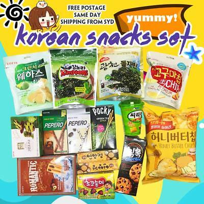 SPECIAL Korean Snacks food/choco/green tea/chips/honey butter/pocky/pepero Set