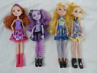 Ever After High dolls - Blondie Lockes Holly Kitty Cheshire - bulk lot x4