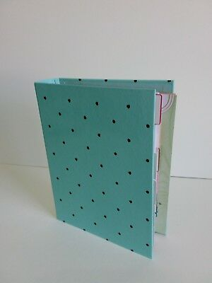 """Target One Spot Mini Binder Mint Dots 7""""x 9"""" 3-Ring Planner (with inserts)"""