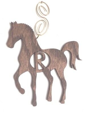 Show Horse ORDER ANY LETTER Personalized Wooden Custom Made Ornament Monogrammed